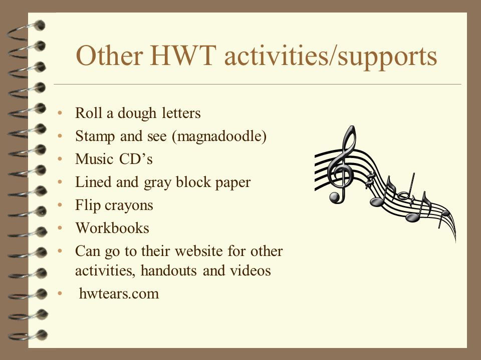 Other HWT activities/supports