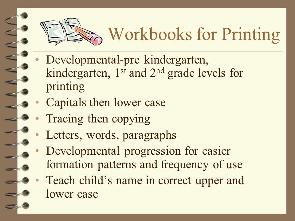 Workbooks for Printing