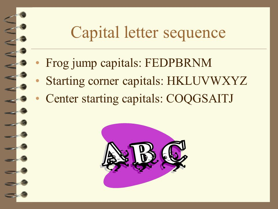Capital letter sequence