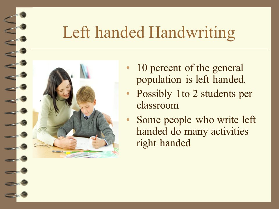 Left handed Handwriting