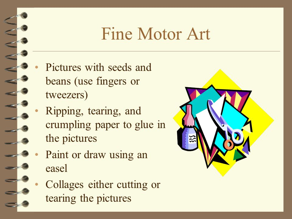 Fine Motor Art Pictures with seeds and beans (use fingers or tweezers)