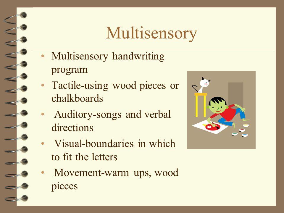 Multisensory Multisensory handwriting program