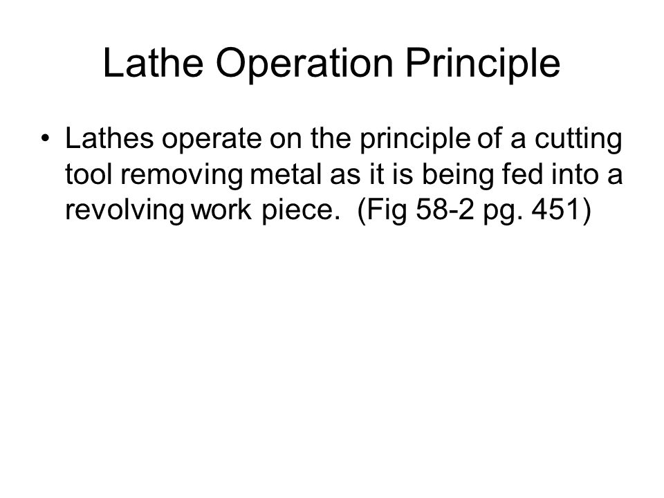 Lathe Operation Principle