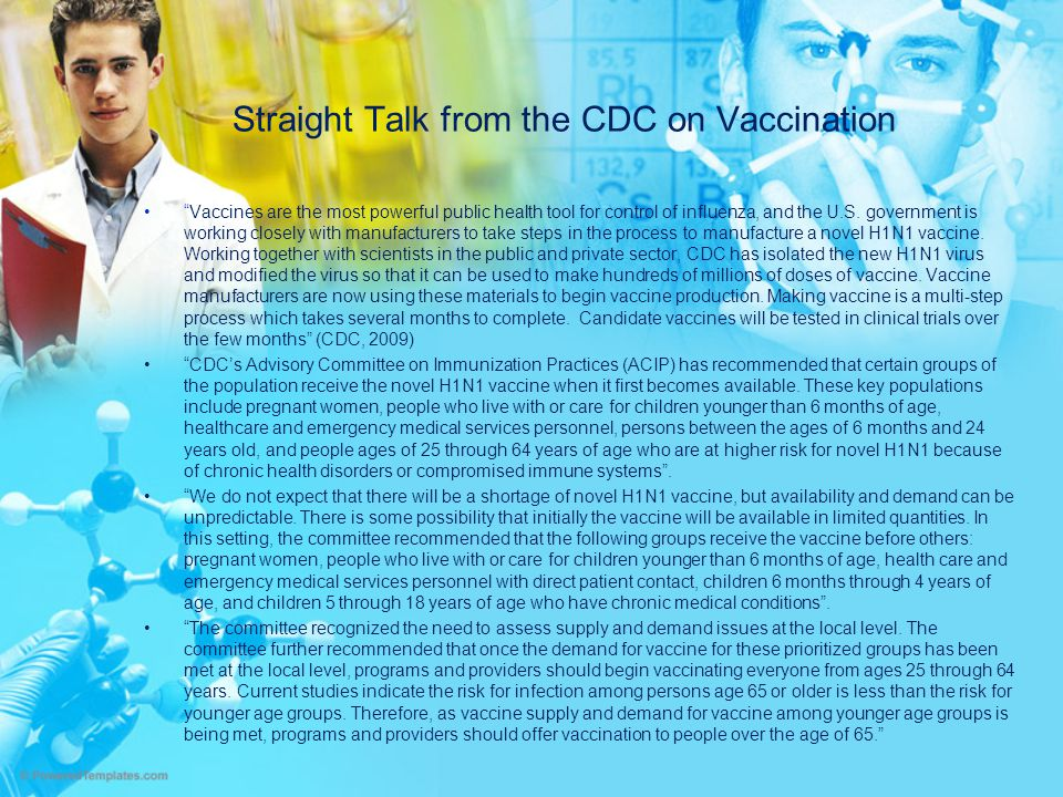 Straight Talk from the CDC on Vaccination
