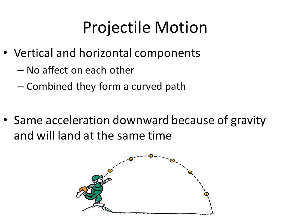 Projectile Motion Vertical and horizontal components