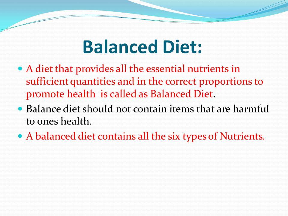 Balanced Diet: