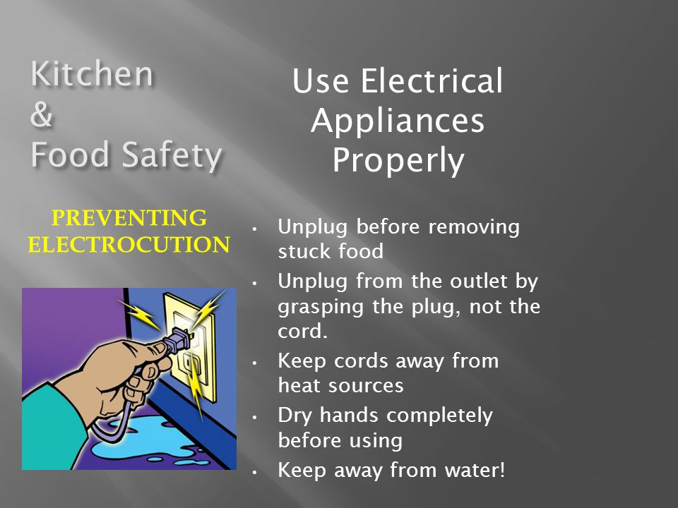 PREVENTING ELECTROCUTION