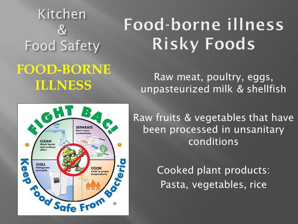 Food-borne illness Risky Foods