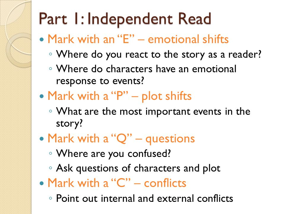 Part 1: Independent Read