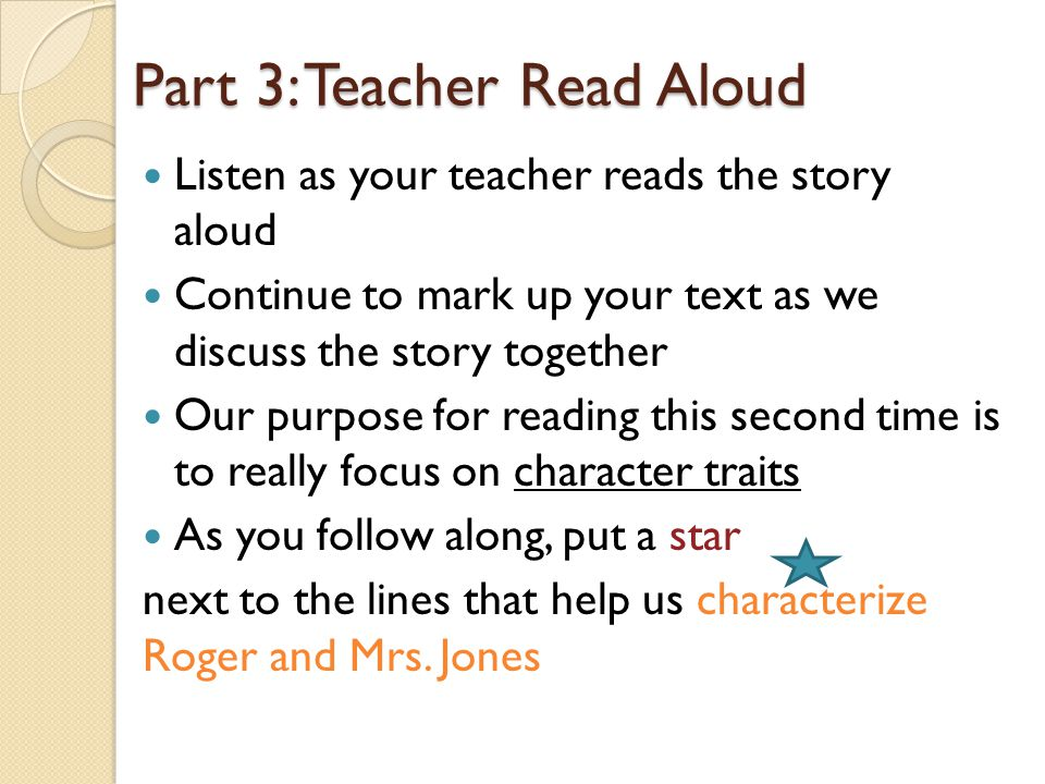 Part 3: Teacher Read Aloud