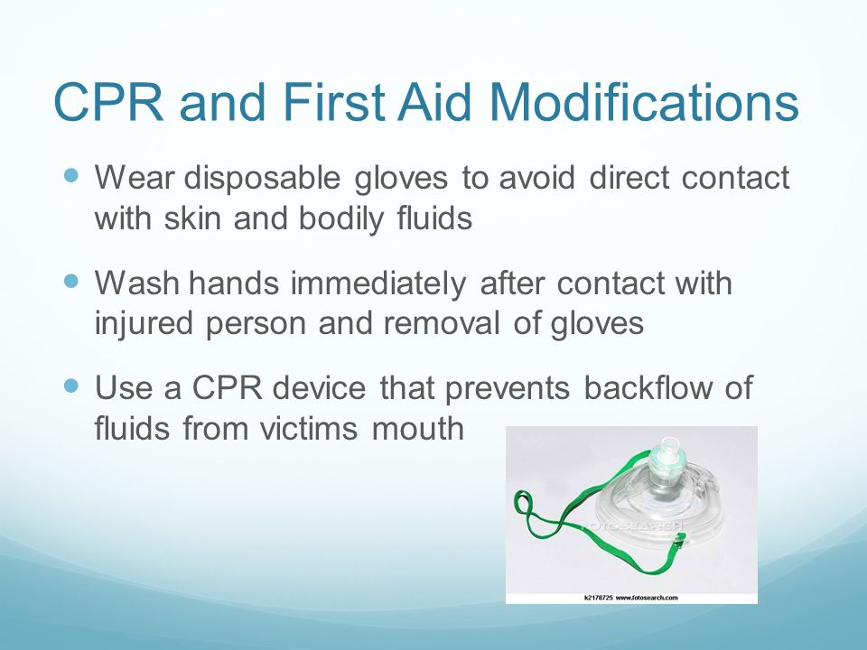 CPR and First Aid Modifications