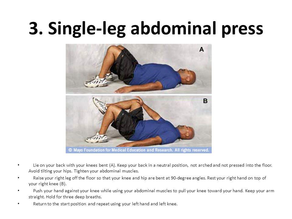 3. Single-leg abdominal press