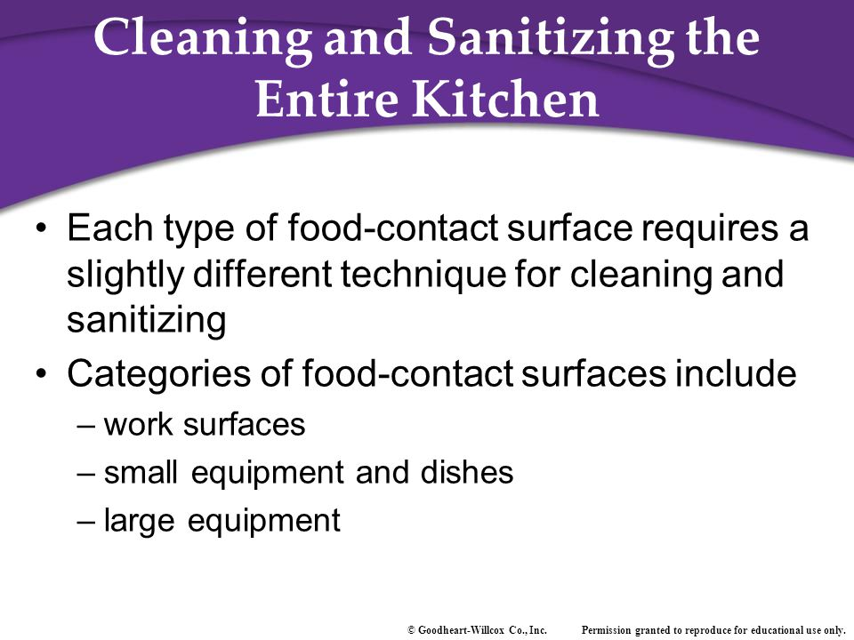 Cleaning and Sanitizing the Entire Kitchen