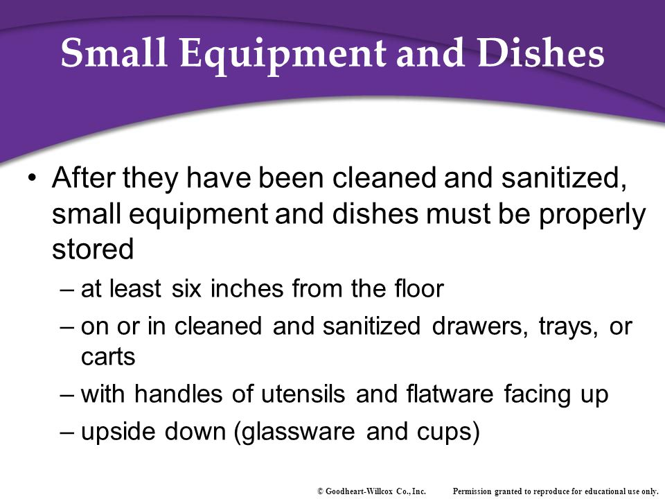 Small Equipment and Dishes