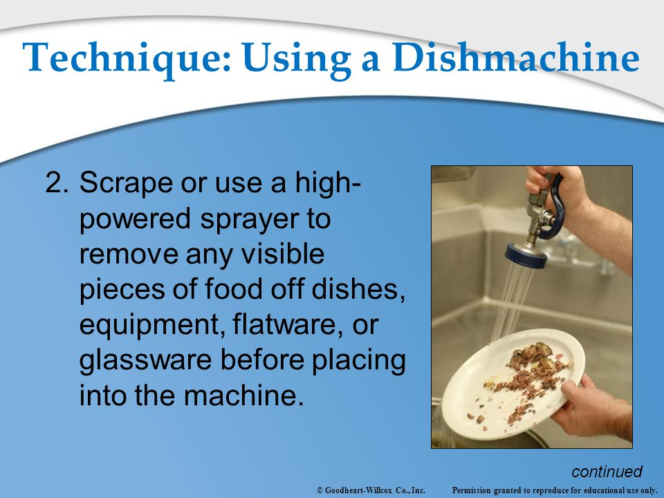 Technique: Using a Dishmachine