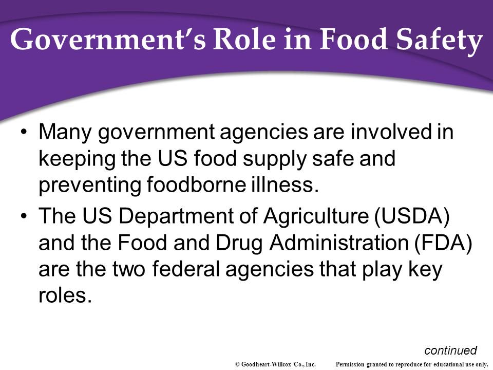 Government's Role in Food Safety
