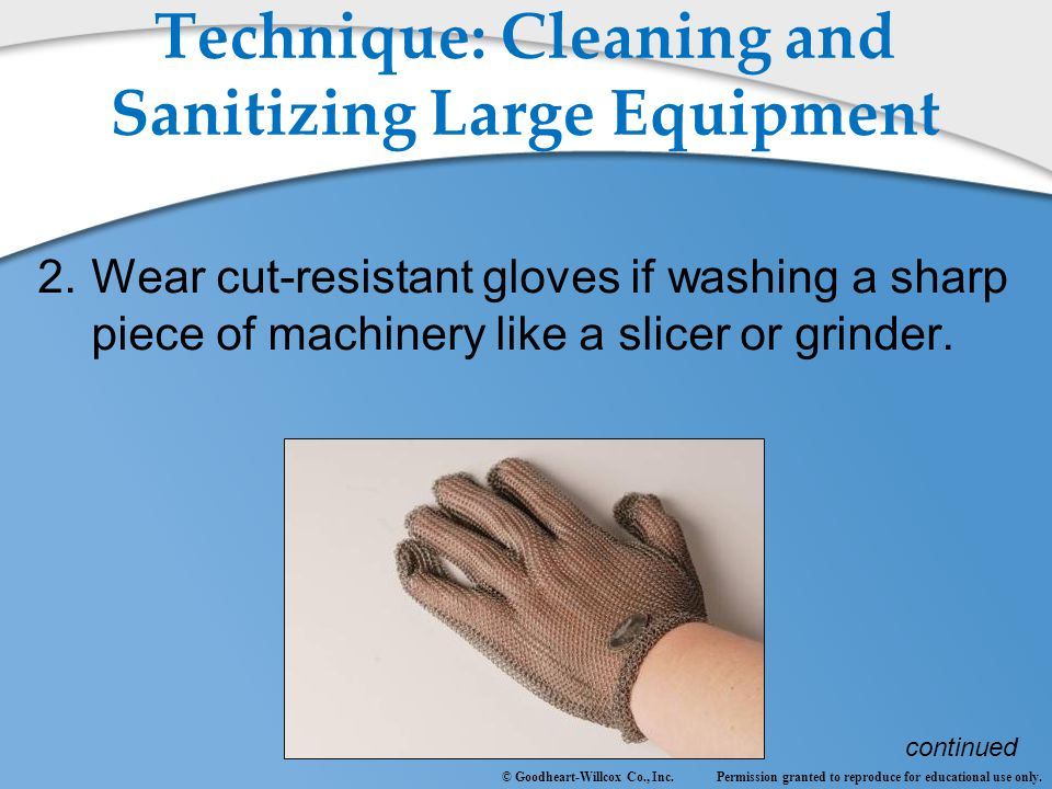 Technique: Cleaning and Sanitizing Large Equipment
