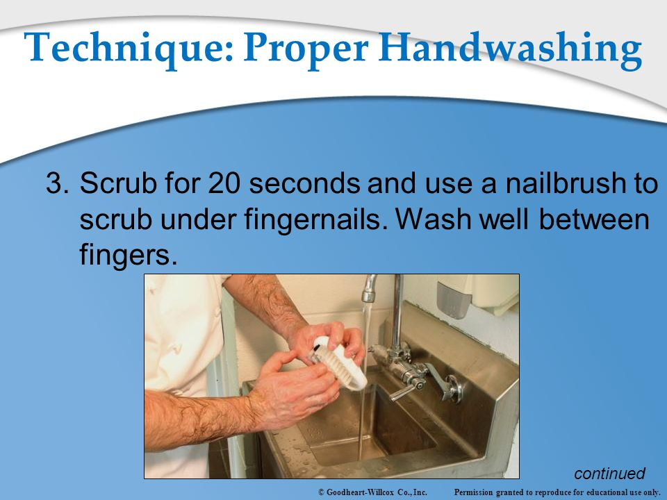 Technique: Proper Handwashing