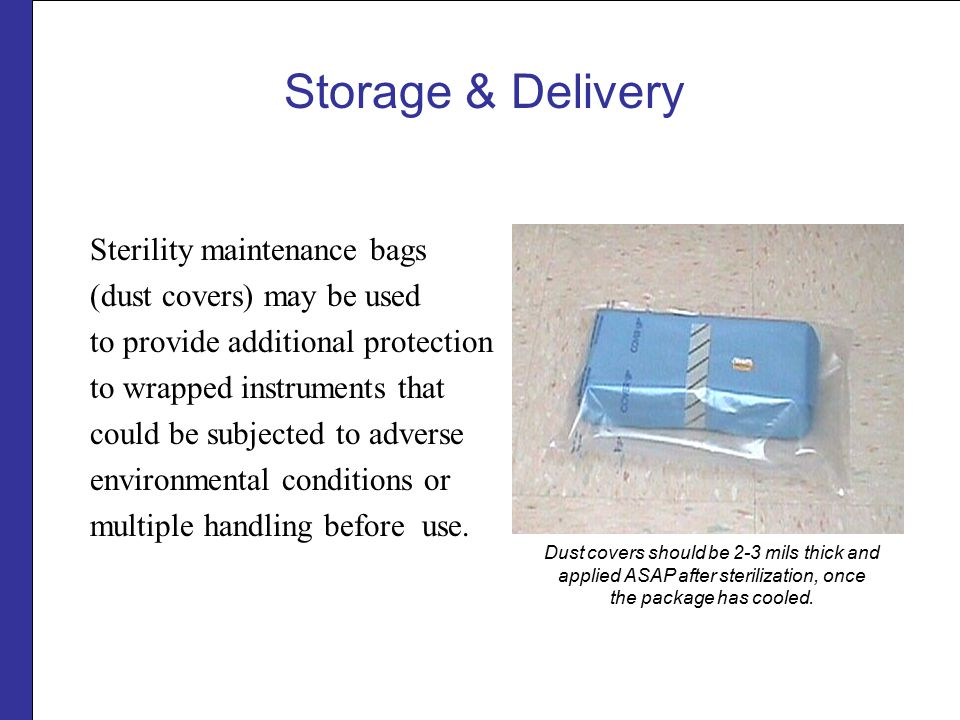 Storage & Delivery Sterility maintenance bags