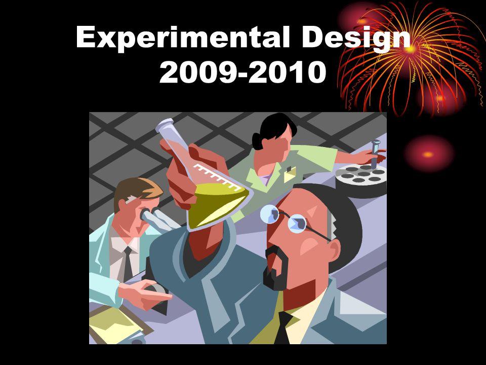 Experimental Design 2009-2010