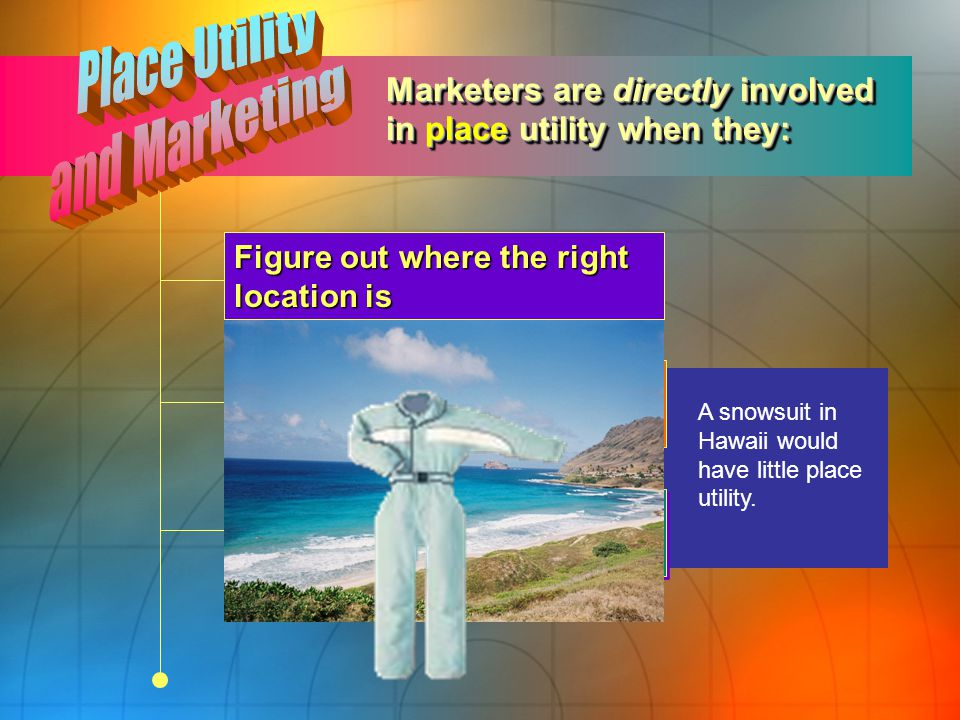 Place Utility and Marketing