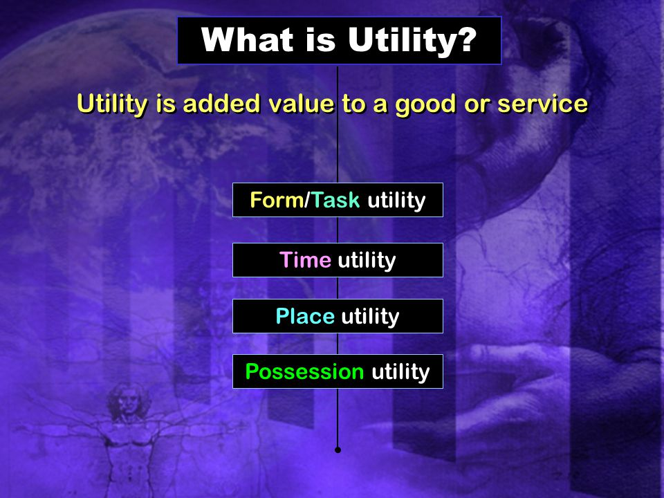 Utility is added value to a good or service