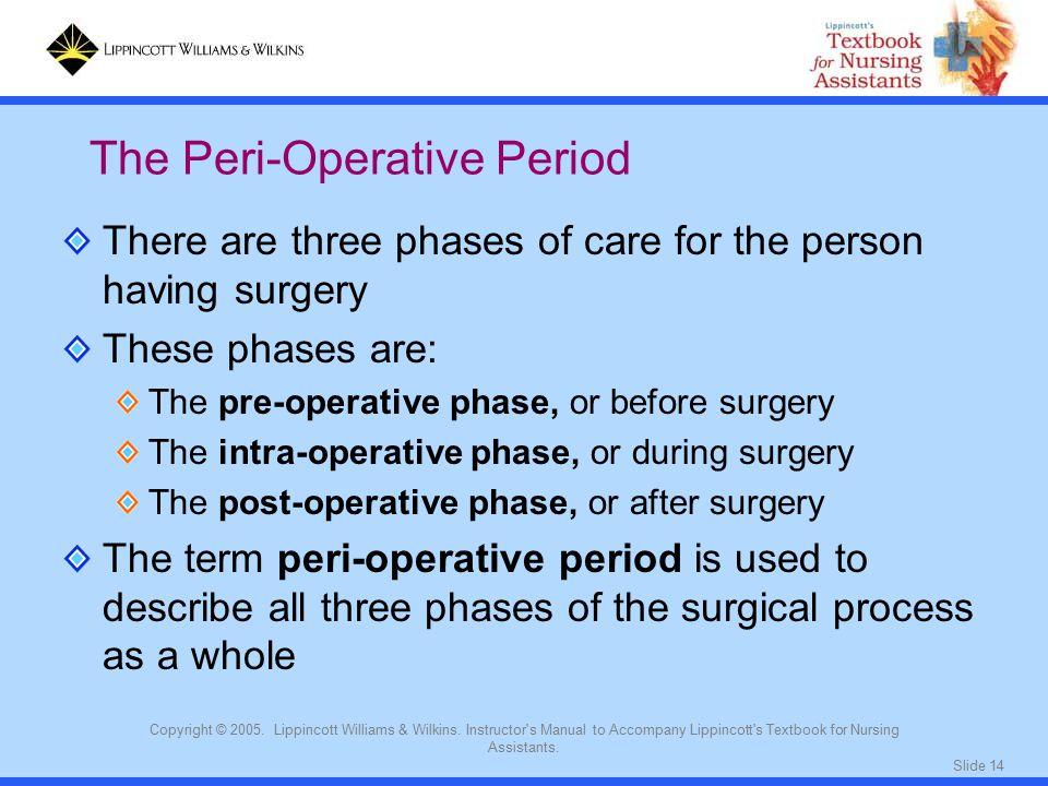 The Peri-Operative Period