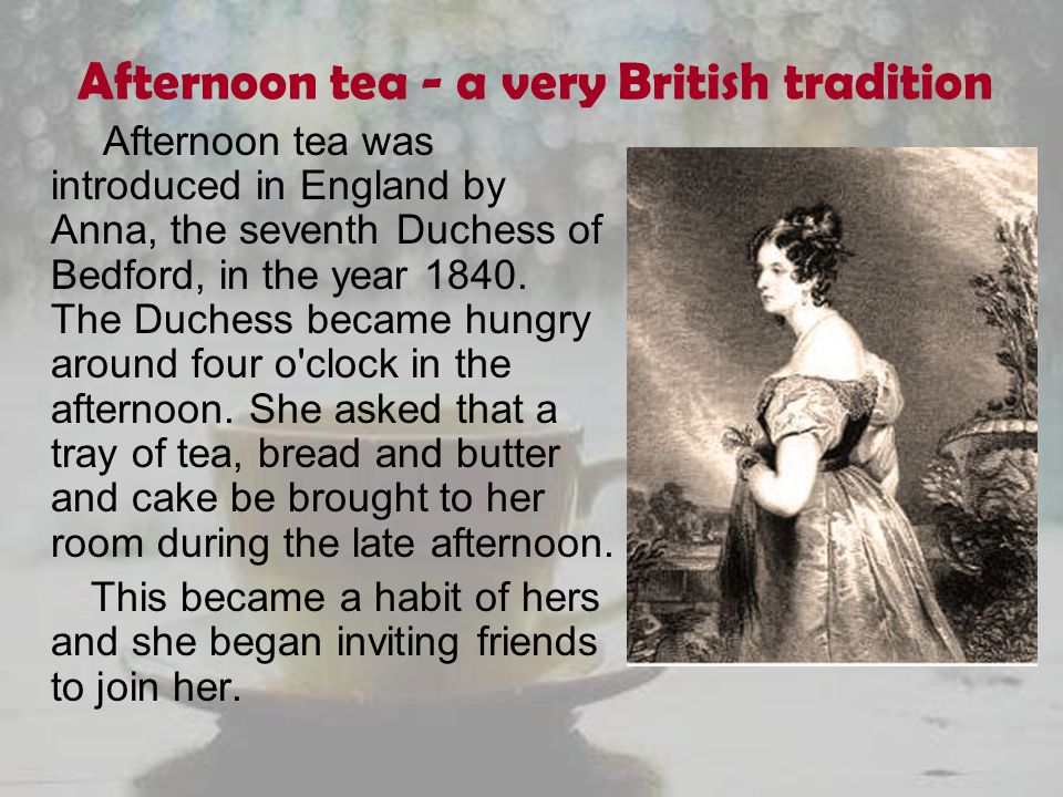 Afternoon tea - a very British tradition