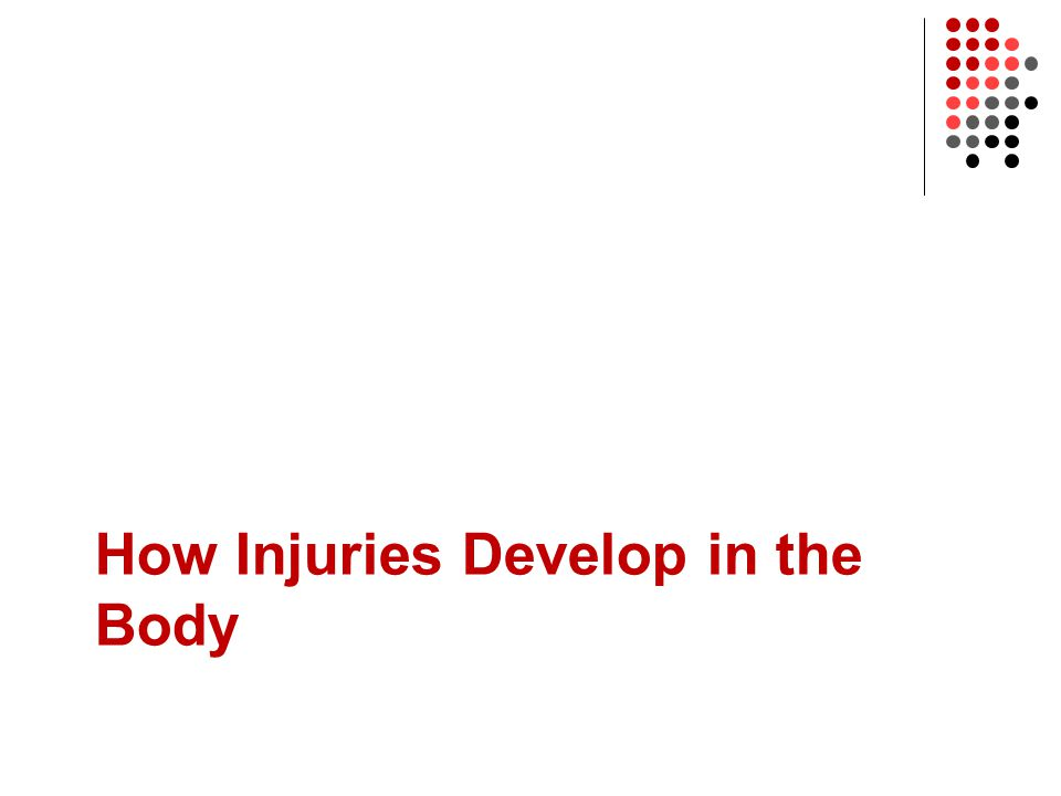 How Injuries Develop in the Body