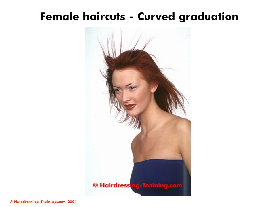 Female haircuts - Curved graduation