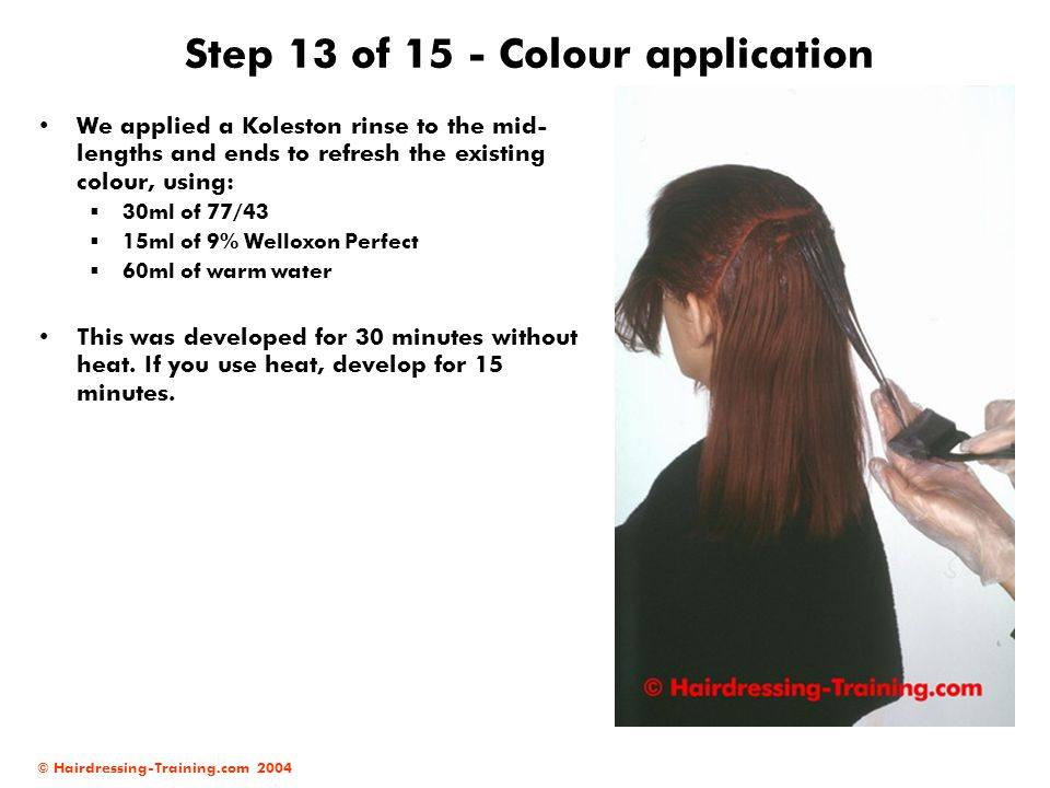 Step 13 of 15 - Colour application