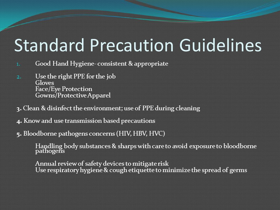 Standard Precaution Guidelines