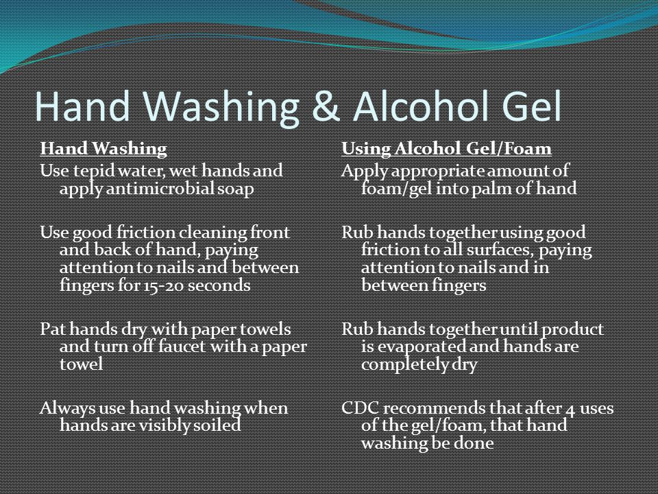 Hand Washing & Alcohol Gel