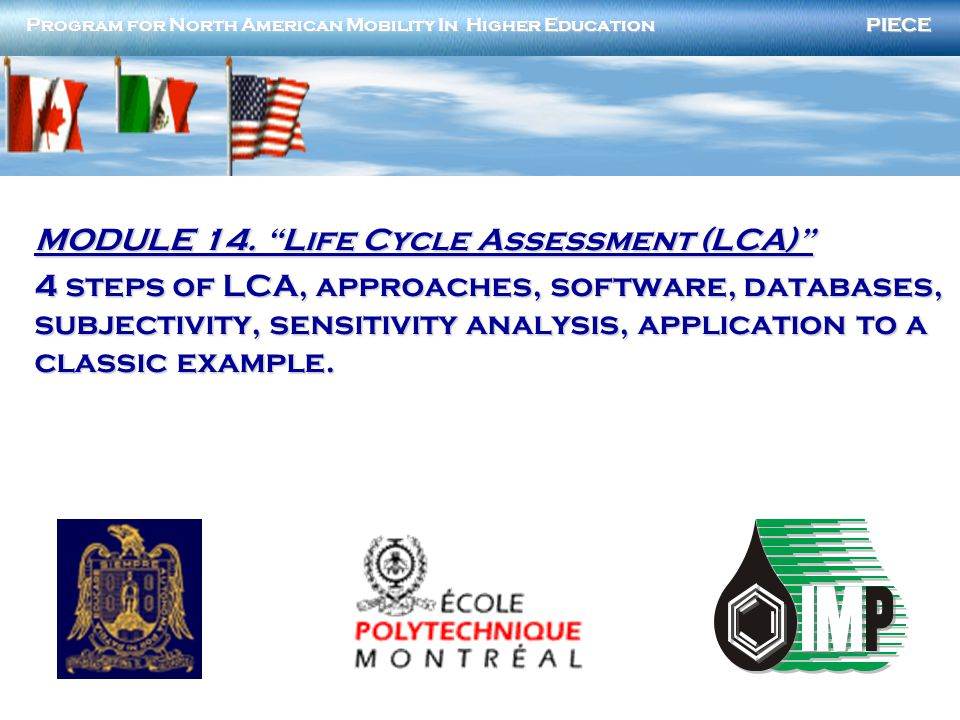 MODULE 14. Life Cycle Assessment (LCA)