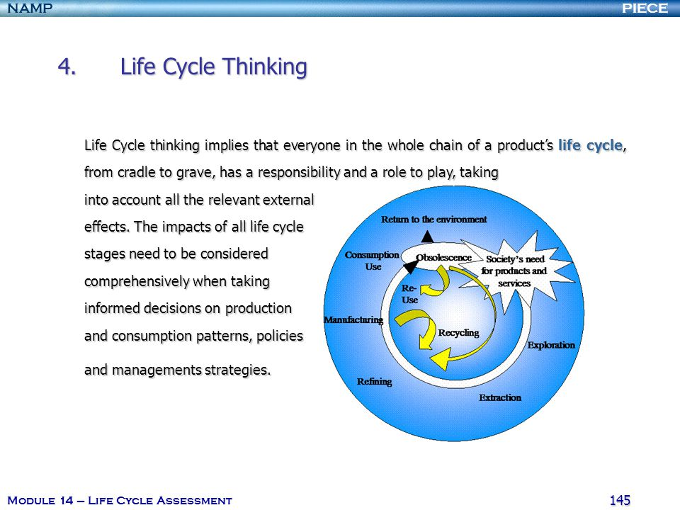 4. Life Cycle Thinking