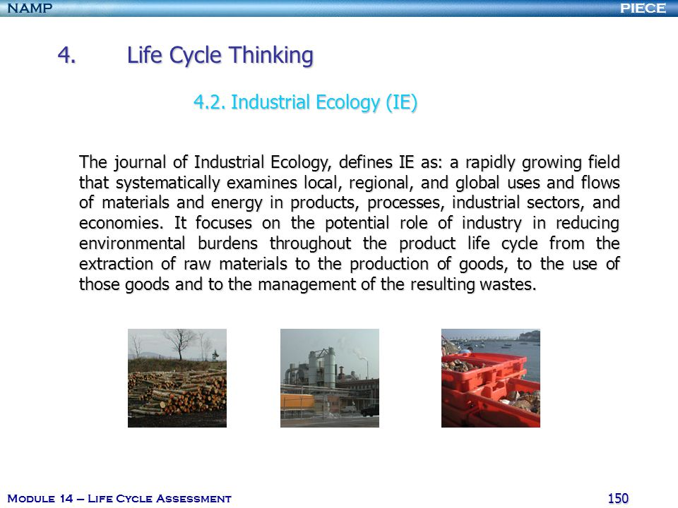 4. Life Cycle Thinking 4.2. Industrial Ecology (IE)