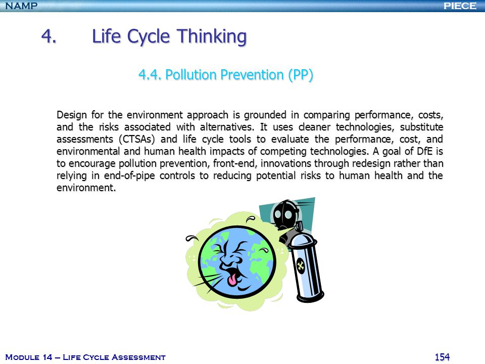 4. Life Cycle Thinking 4.4. Pollution Prevention (PP)