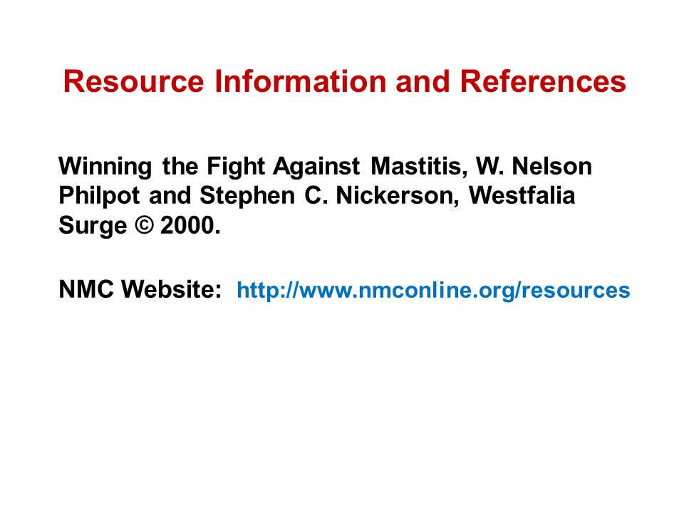 Resource Information and References