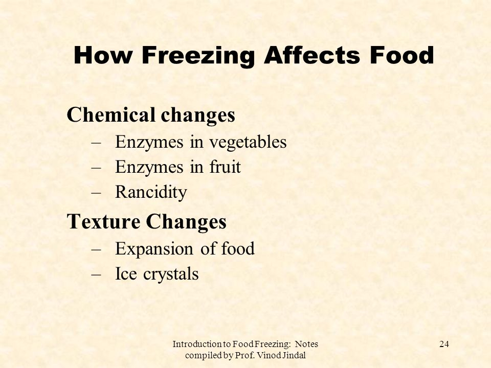 How Freezing Affects Food