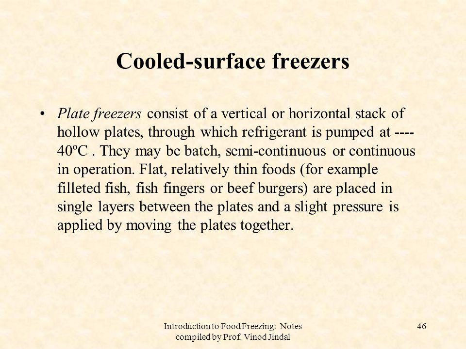 Cooled-surface freezers