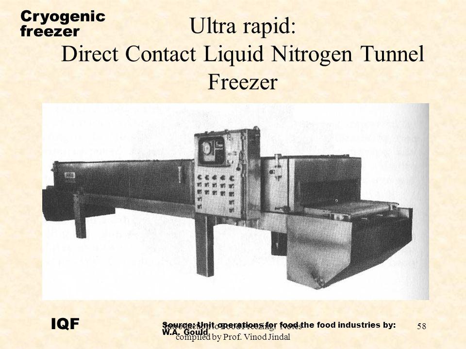 Ultra rapid: Direct Contact Liquid Nitrogen Tunnel Freezer