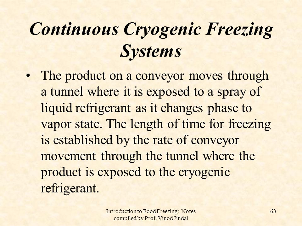 Continuous Cryogenic Freezing Systems