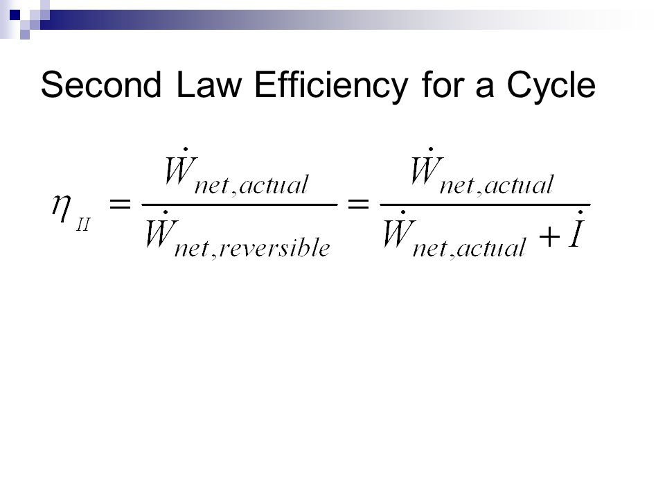 Second Law Efficiency for a Cycle