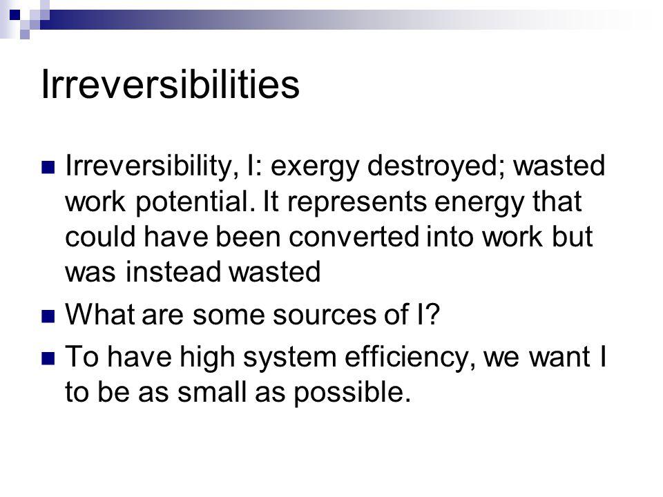 Irreversibilities