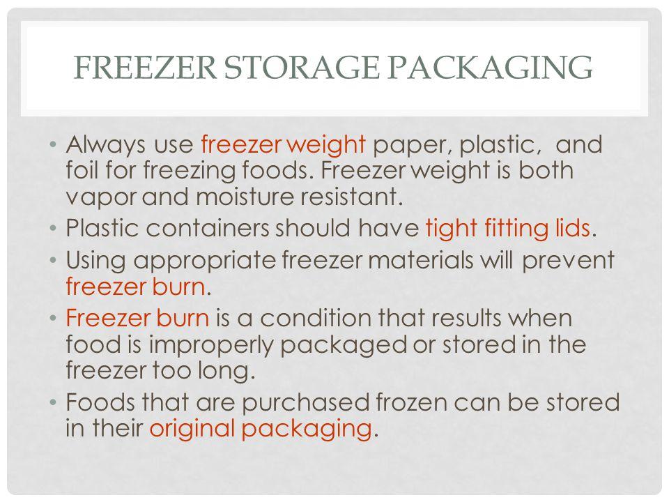Freezer Storage Packaging
