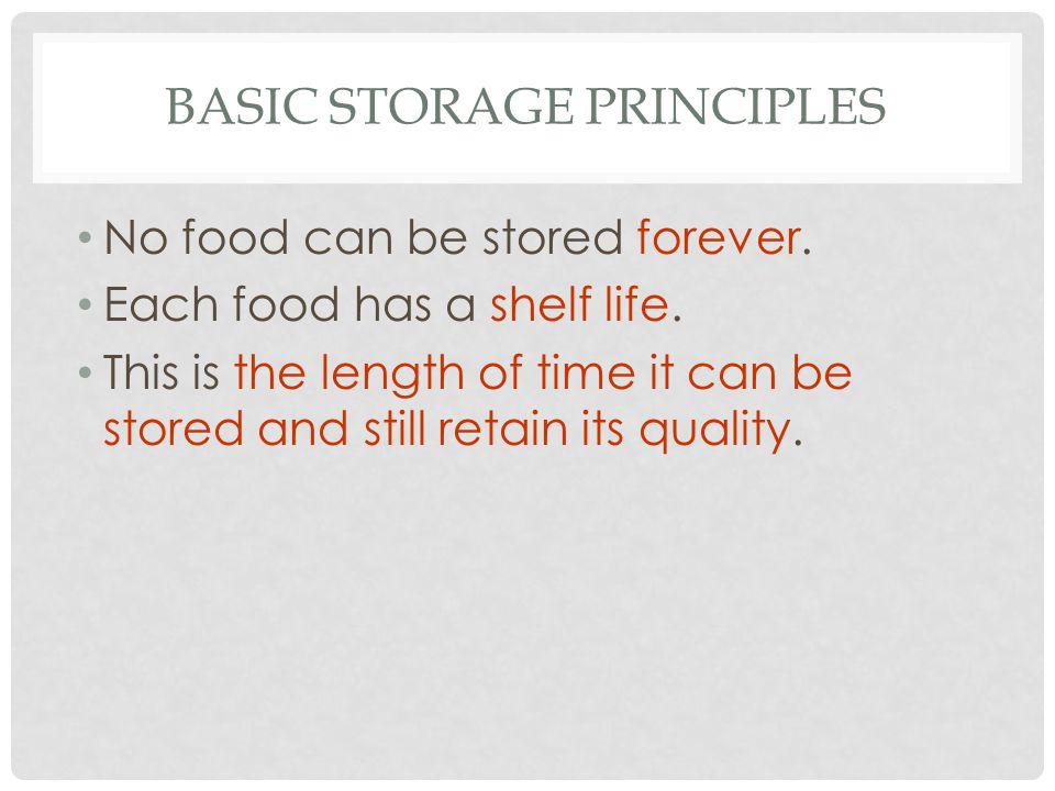 Basic Storage Principles