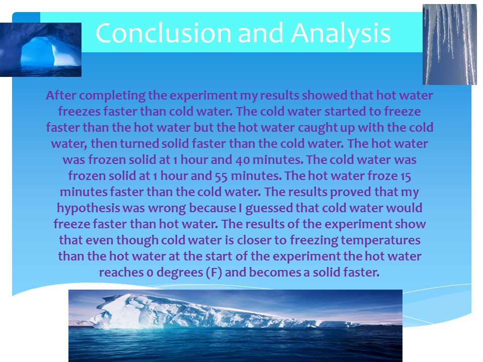 Conclusion and Analysis