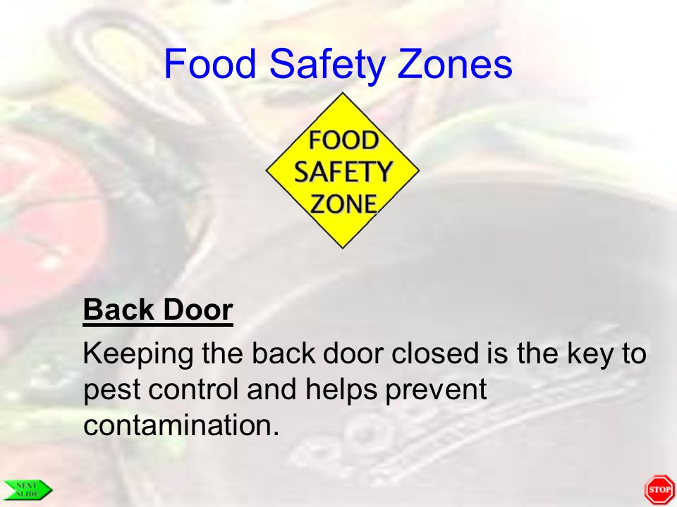 Food Safety Zones Back Door