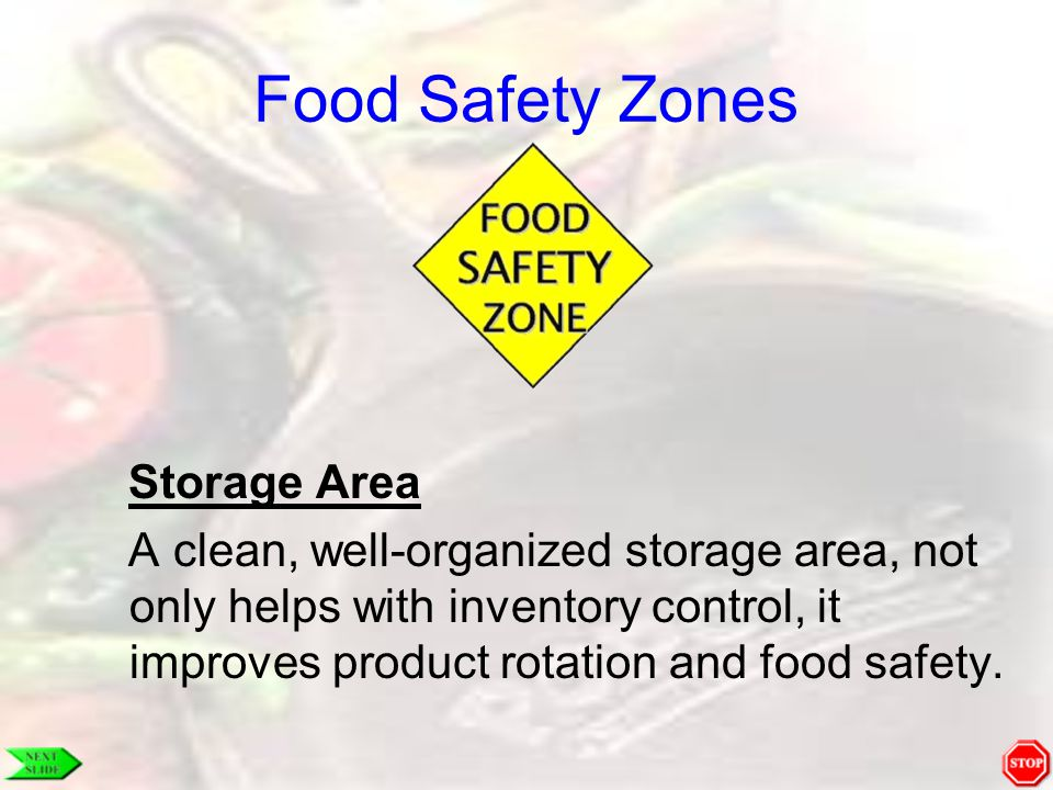 Food Safety Zones Storage Area