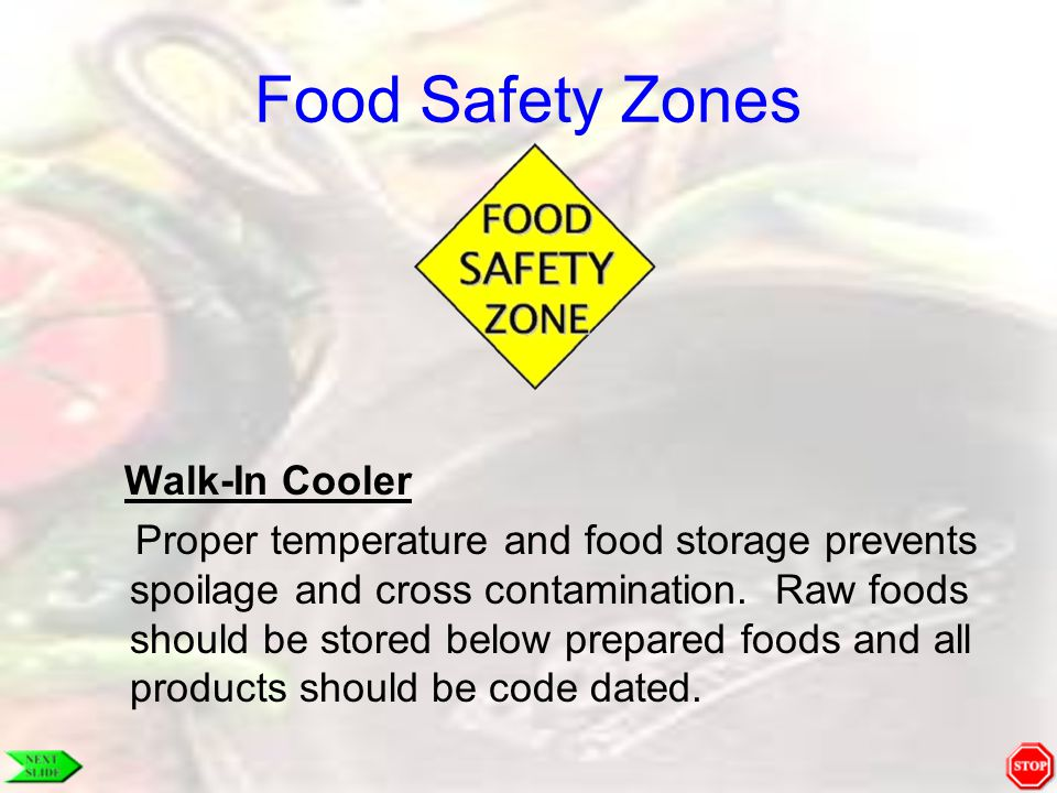 Food Safety Zones Walk-In Cooler